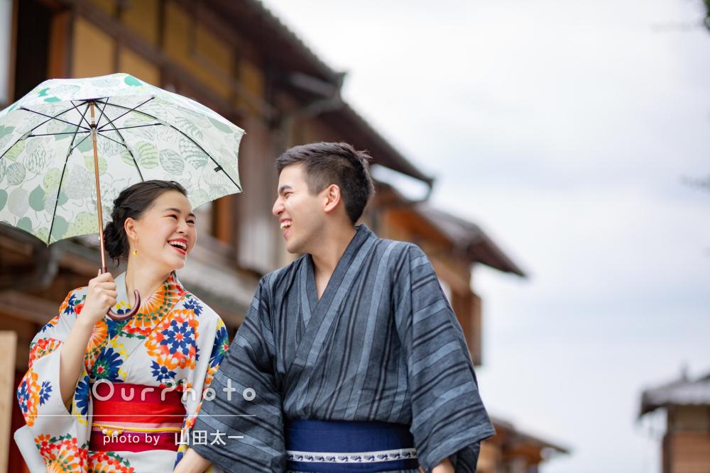 「とても楽しく撮って頂きました」京都で和服デート!カップルフォト撮影