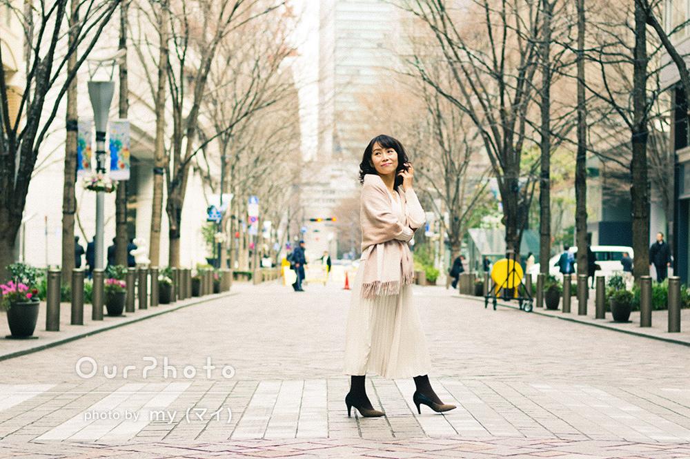 「女性としてどう映ると嬉しいのかを理解されているからのポーズアドバイス」プロフィール写真の撮影