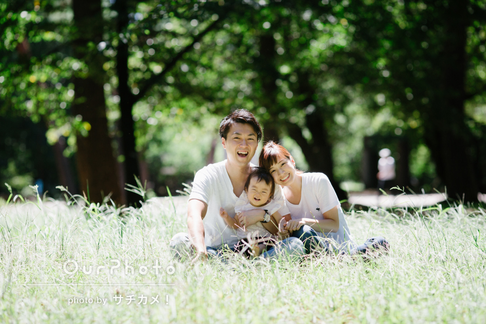 「出来上がりの写真はどれもステキで大満足」自然な笑顔の家族写真