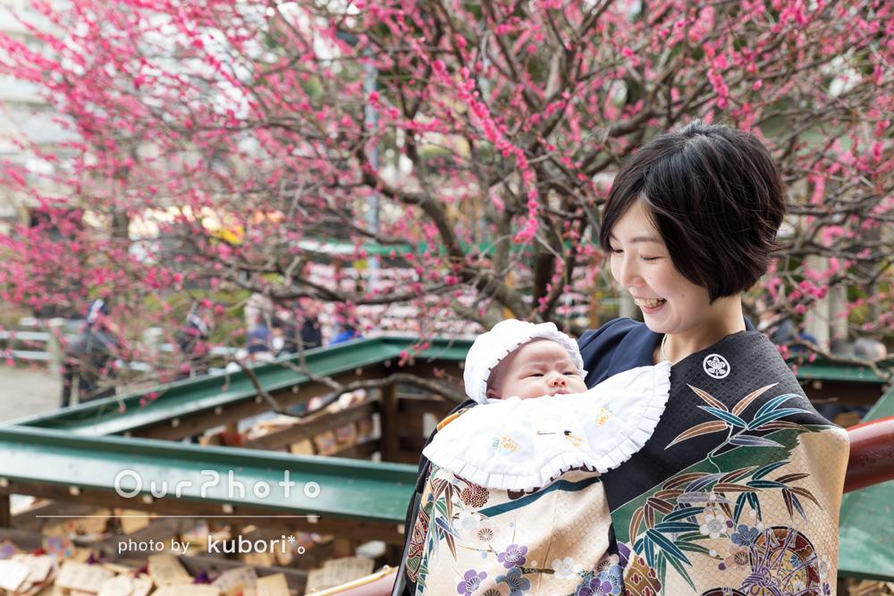 「自然とにじみ出るような笑顔の家族写真を撮ることができて大変満足です」お宮参りの撮影