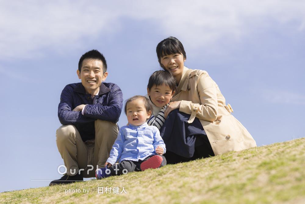 「息子2人を中心に自然な姿を撮ってほしいです」家族写真の撮影