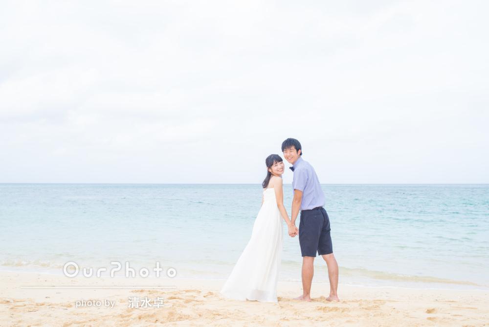 沖縄の離島にて2人だけのウェディングフォト撮影