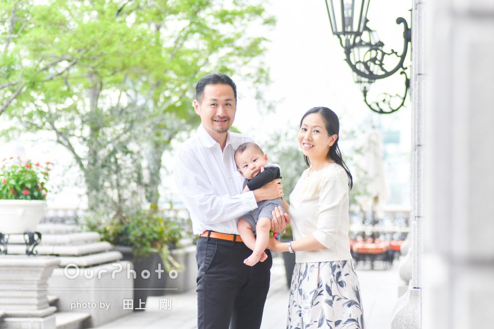 「仕上がりにも満足」雨でも明るく!初めての家族旅行に記念写真