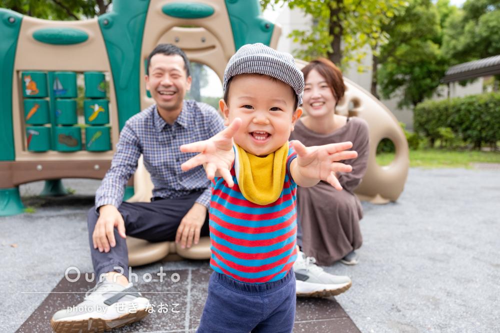 はじける笑顔で「楽しい撮影会」明るく爽やかな家族写真の撮影