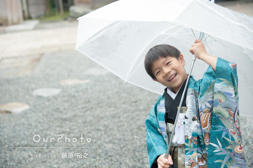 雨の日でも明るく晴れやかに!七五三の撮影