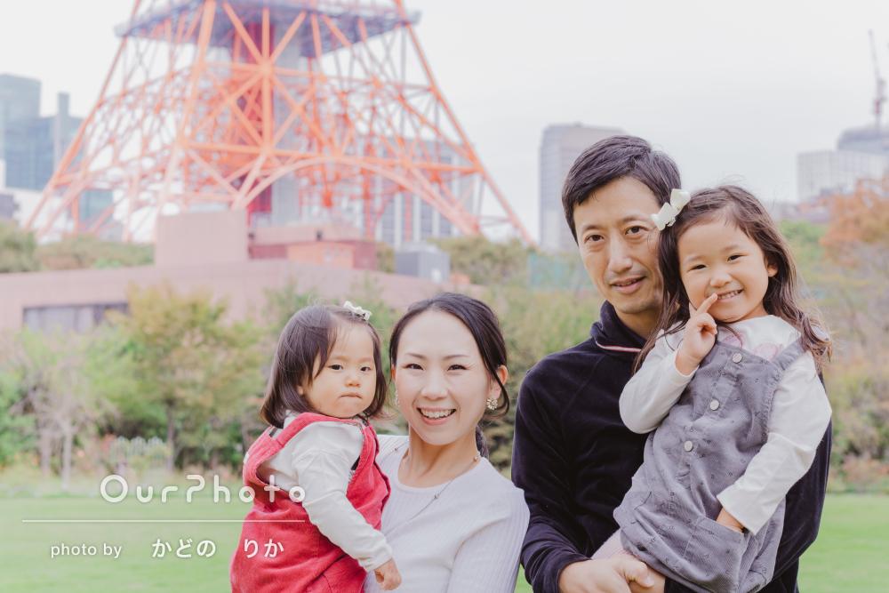 「素敵なお写真をたくさん撮影していただけました」家族写真の撮影