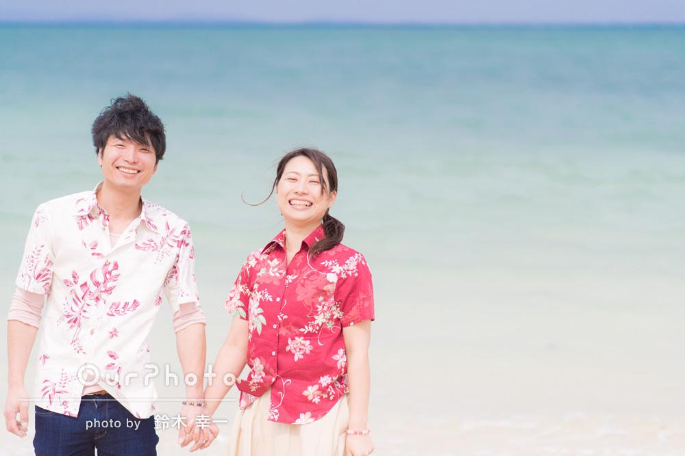 「とても楽しい時間」沖縄でエンゲージメントフォト