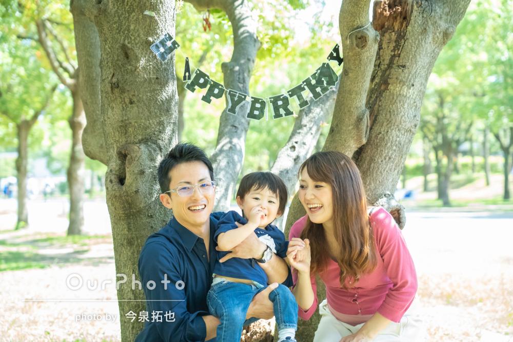 「大満足です」緑が綺麗な公園で!お子様の2歳記念とマタニティフォト