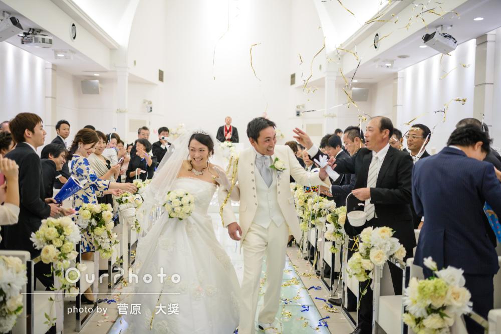 楽しく幸せな空気感がたくさんつまった結婚式の挙式披露宴の撮影