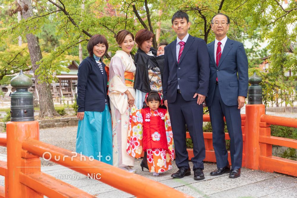 七五三とお宮参りを一緒に!家族みんなで神社へ出張撮影
