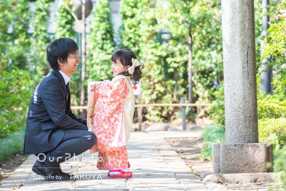 家族の絆が感じられる、ふんわり温かい雰囲気の七五三の撮影
