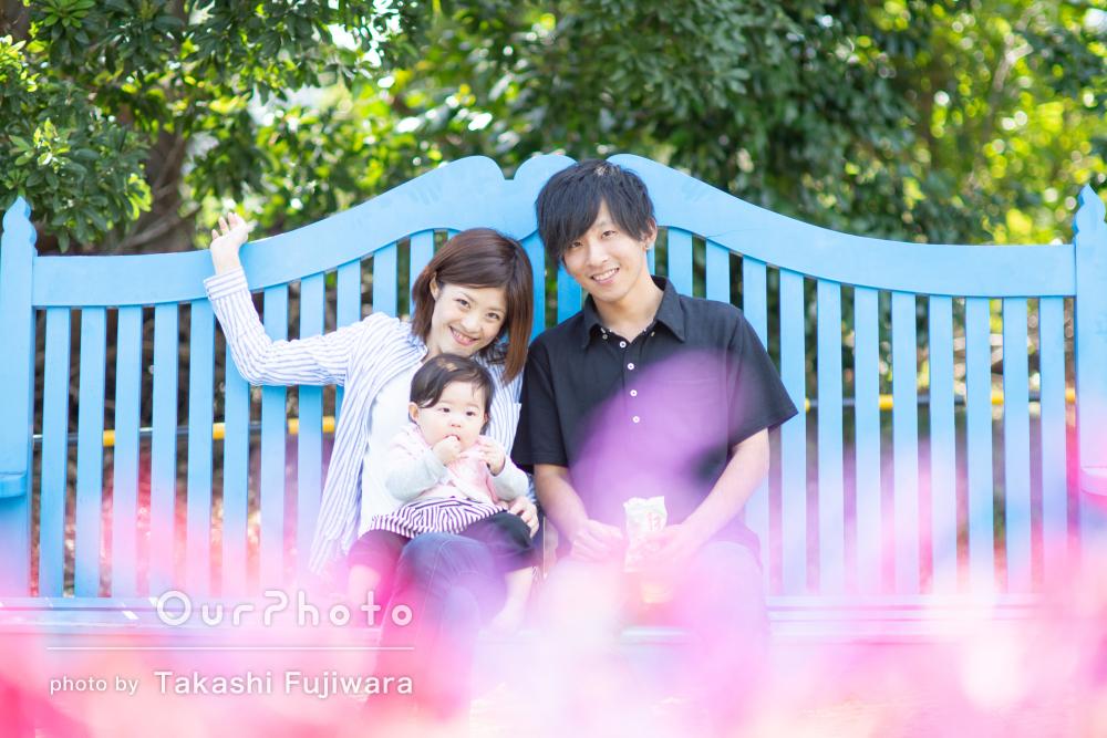 「何も不安な事が無く」安心して和やかに!1歳記念に家族写真の撮影
