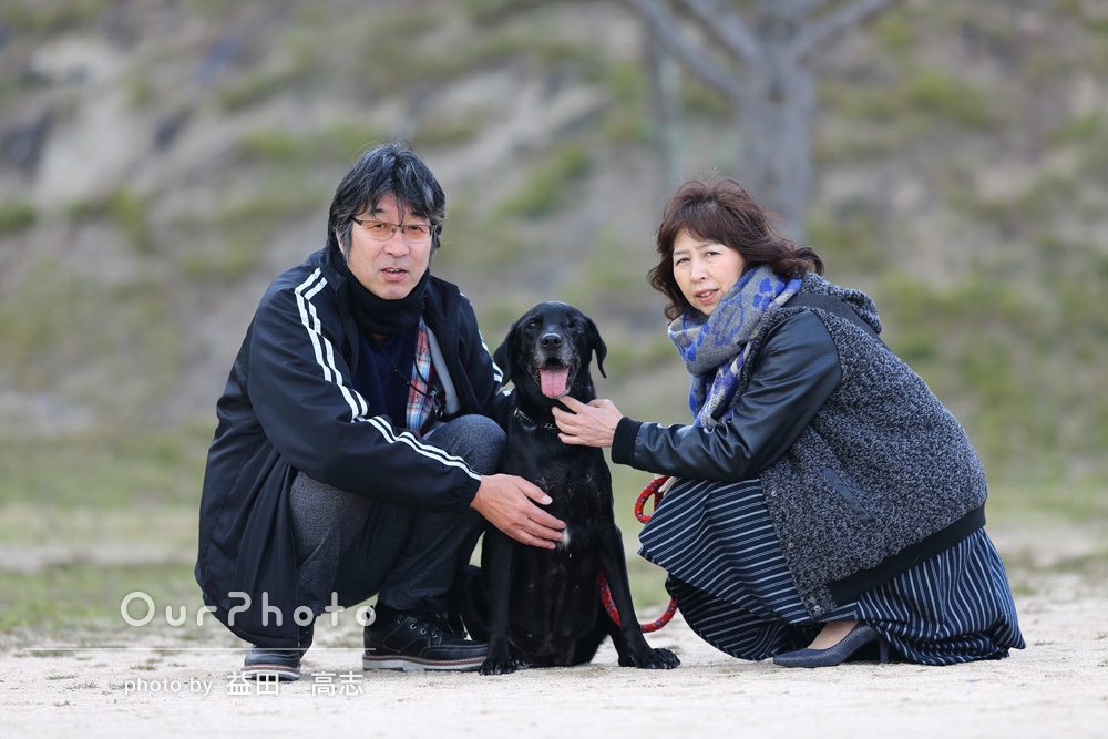 愛犬と思い出の写真撮影