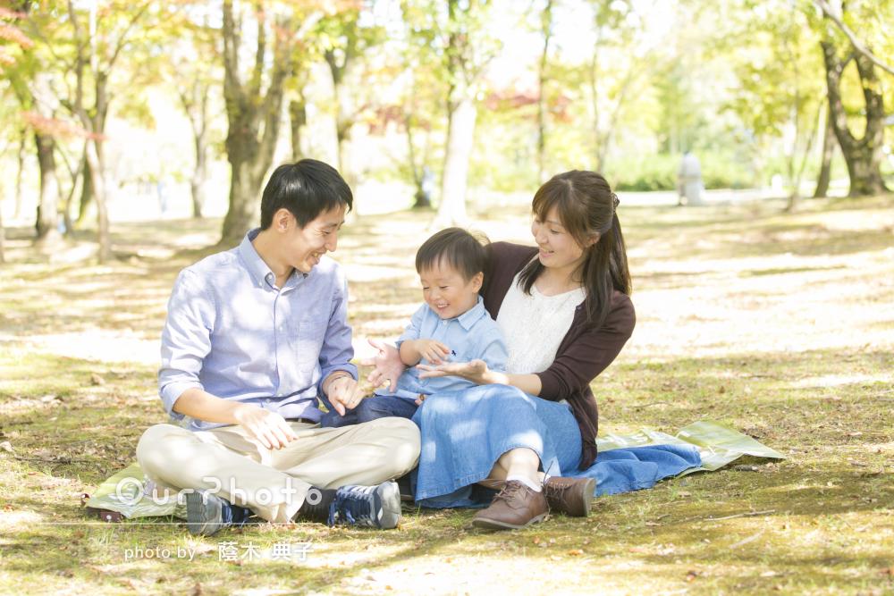 「息子もとても楽しそうであっという間の時間でした」家族写真の撮影