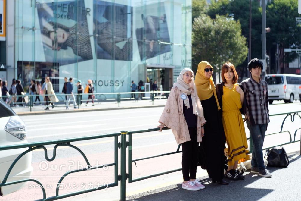 観光を楽しんでいる様子を!日本への旅行の撮影