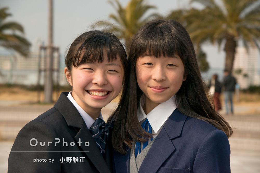 お嬢様お二人の卒業・入学記念の撮影