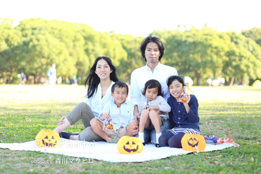 「楽しい撮影会でした」家族写真の撮影