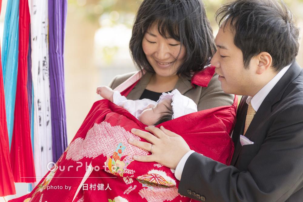 「その日しか撮れない素敵な写真を残すことができました。家族ともに満足です」お宮参りの撮影