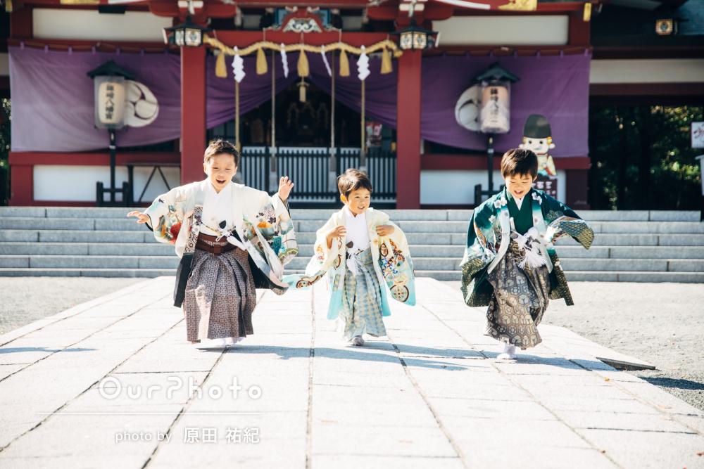三兄弟の七五三写真の撮影「親子で撮影を楽しむことができました」