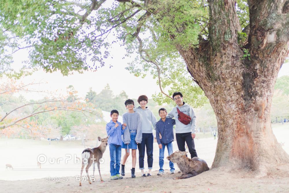 「自然な笑顔をたくさん撮っていただくことができました」家族写真の撮影