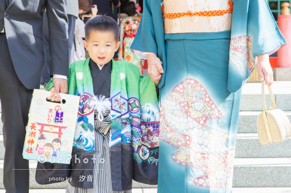 「素敵な写真をたくさんありがとうございます」七五三詣りの撮影