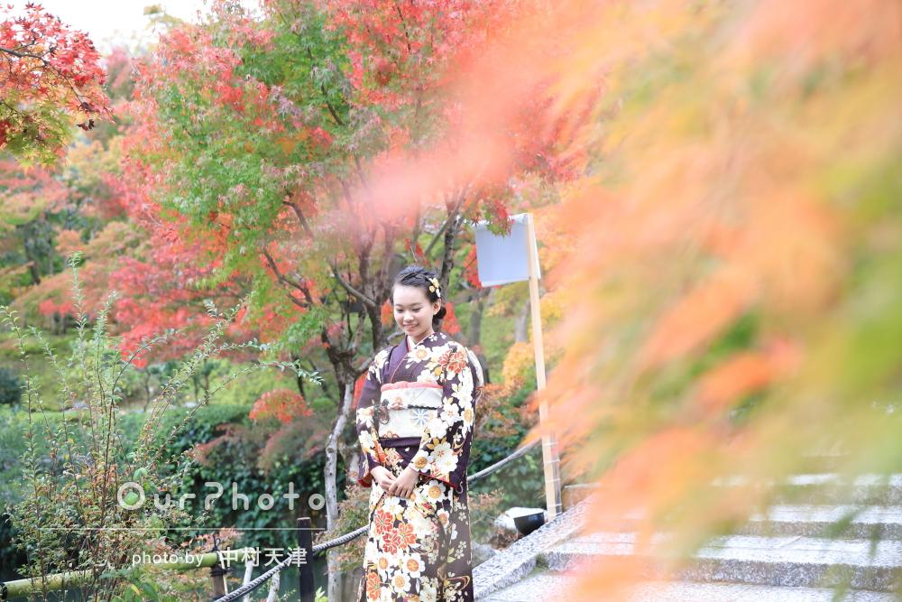 紅葉と一緒に!京都にて成人式の前撮り写真の撮影