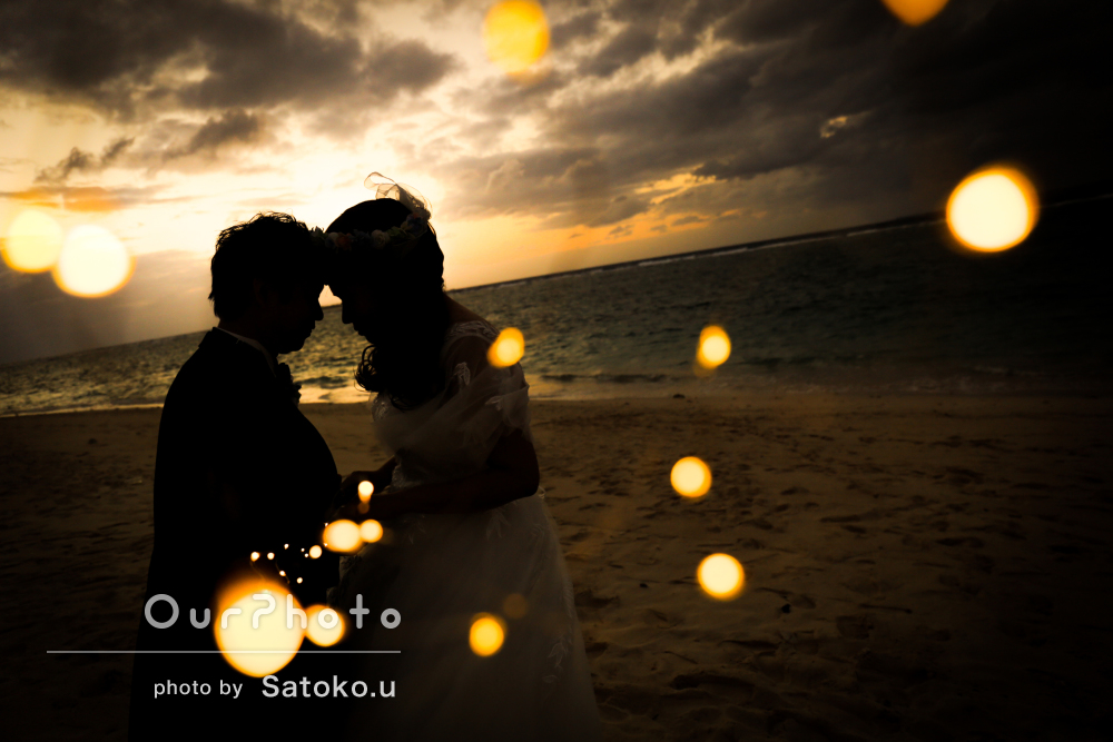 「とにかくとても良かった」沖縄のサンセットビーチでウェディングフォト