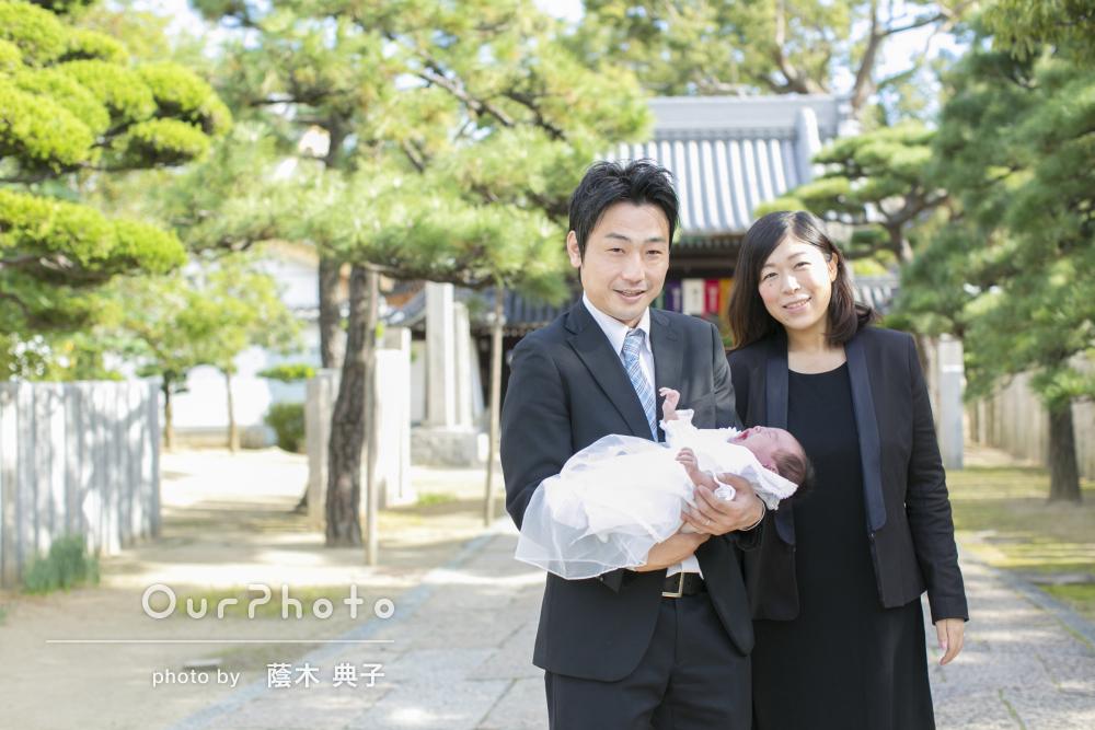 「娘の初めてのお祝いにステキな記念に!」神社でお宮参りの撮影