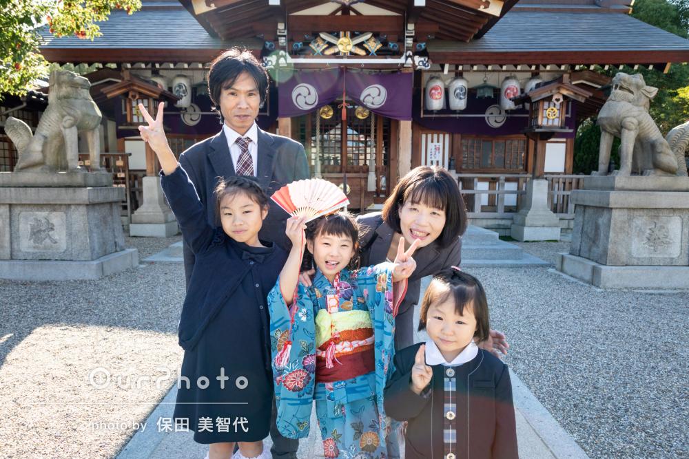 七五三写真「子ども達のペースに合わせて」ゆったりと撮影。