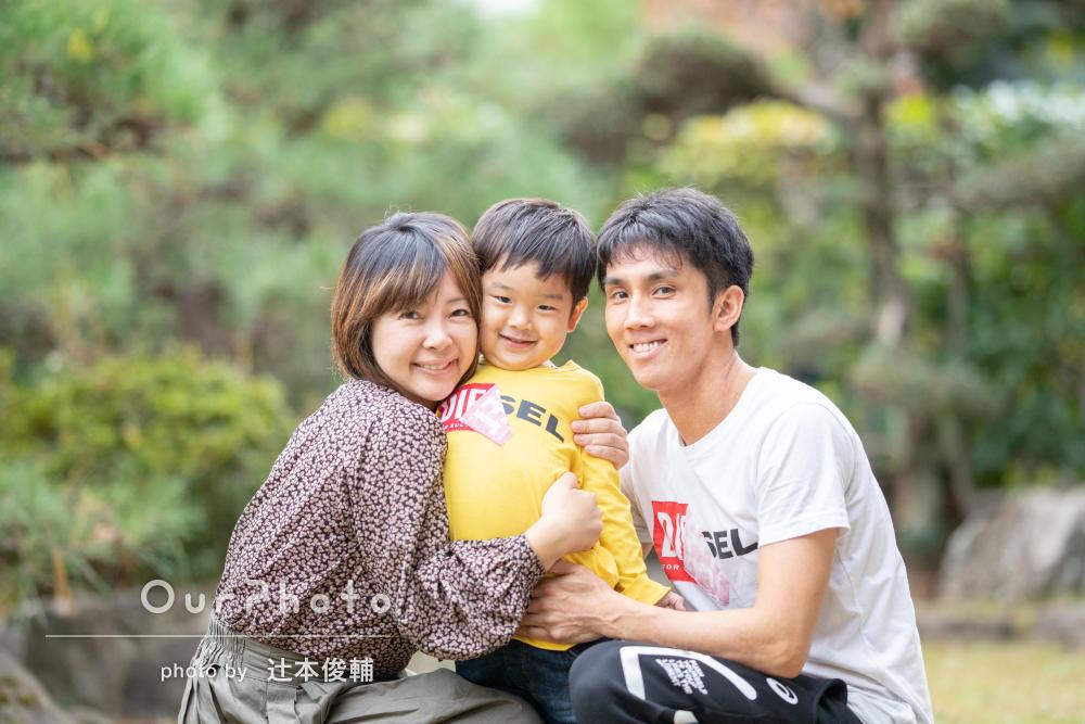 「子供のいい表情をとらえた素敵な写真」家族写真の撮影