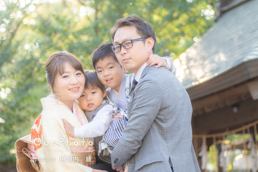 「家族の思い出に残る幸せな時間」成長の記録に!七五三参りの撮影