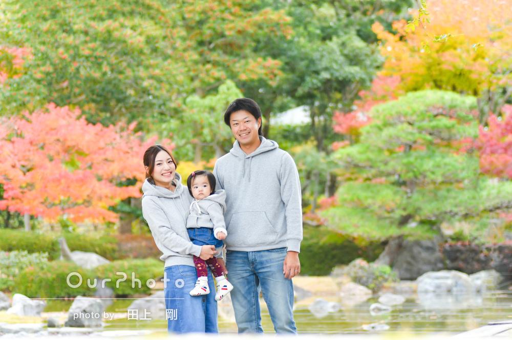 「毎年子どもの誕生日にお願いしたい」1歳記念に家族写真の撮影