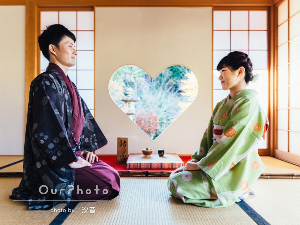 「着物を着た2人の写真を」秋の京都で和装カップルフォト撮影