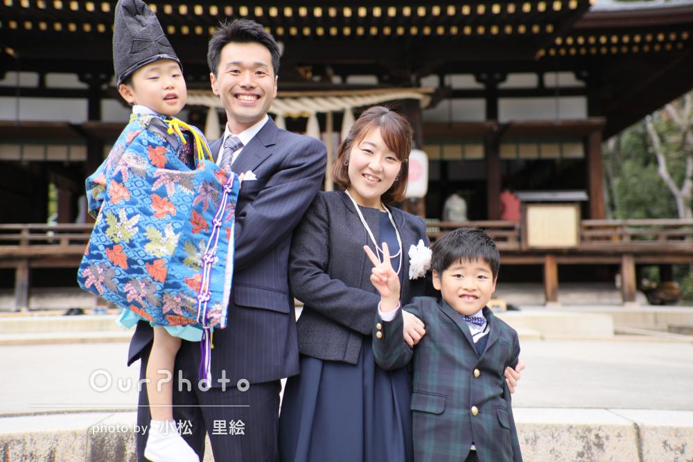 「子供達も打ち解け楽しい撮影」七五三参りに洋装と和装で記念写真