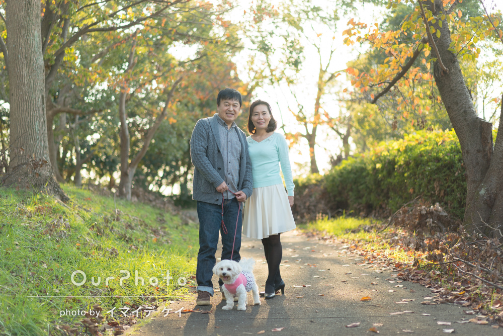 「綺麗に撮ってもらえてよかったです」ペットと共に家族写真の撮影