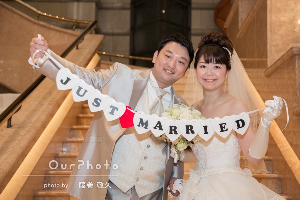 「とても丁寧で出来上がりも素敵な写真で嬉しいです」結婚式の撮影