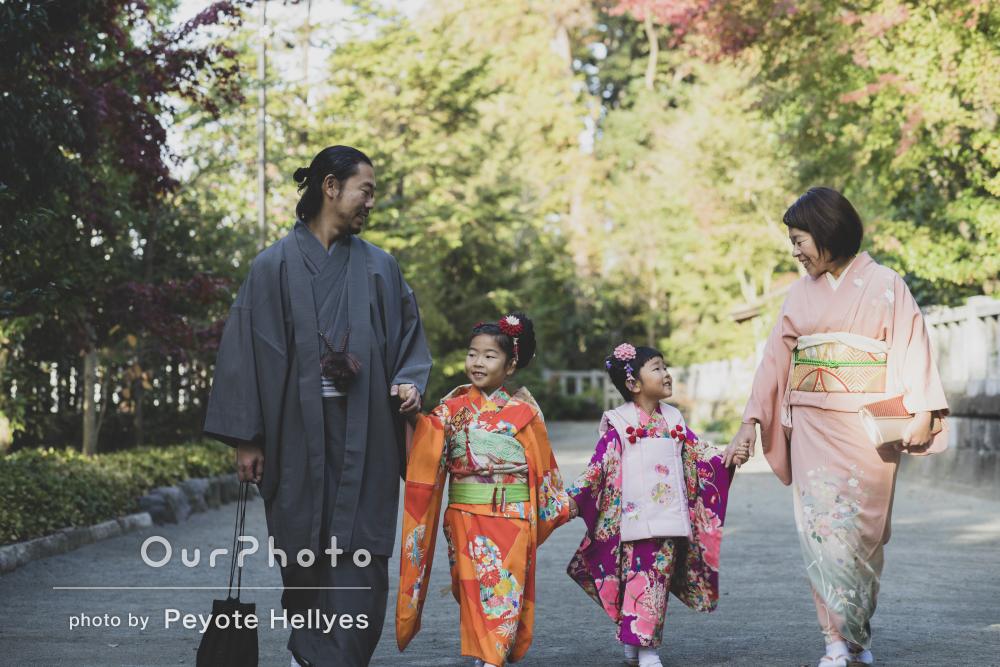 家族の絆が感じられる、温かく優しい七五三の撮影