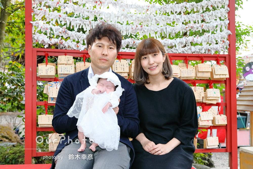 「家族3人揃った素敵な写真をたくさん!」お宮参りの記念撮影