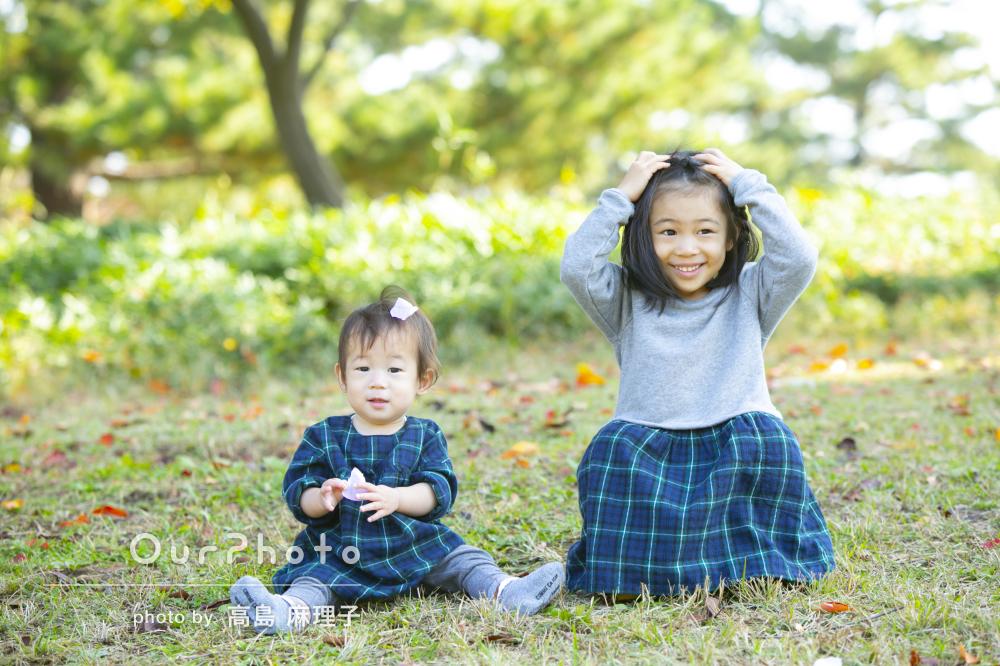 「長女は特に楽しそうでした!」1歳のお誕生日を兼ねての家族撮影