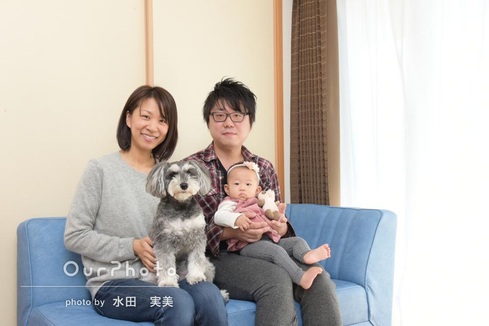 「楽しくあっという間」ご自宅でリピーター様の家族写真の撮影