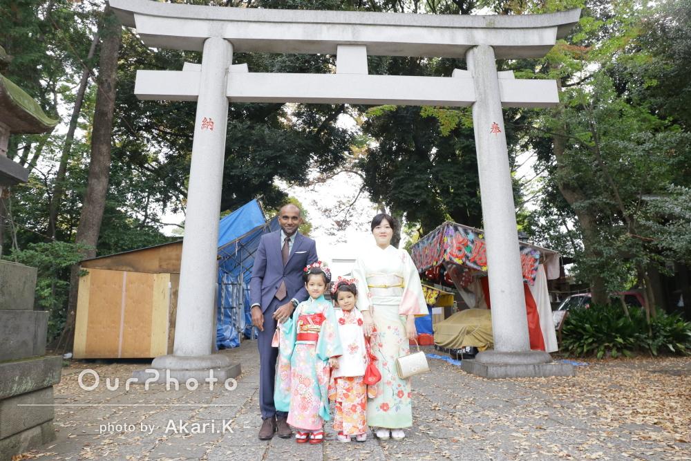 「家族4人で撮れた写真は感謝感激」姉妹の七五三の撮影