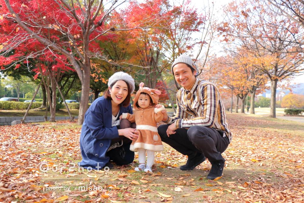 「いい写真が出来上がって感動」公園で家族写真の撮影