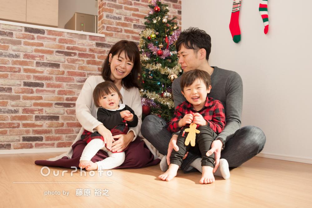 「とても誠実で信頼」素敵なご自宅でのほっこり家族写真の撮影