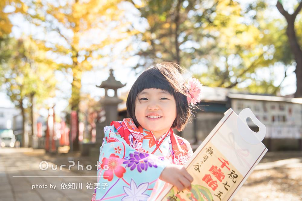 「仕上がりにも大変満足」紅葉が美しい神社での七五三撮影