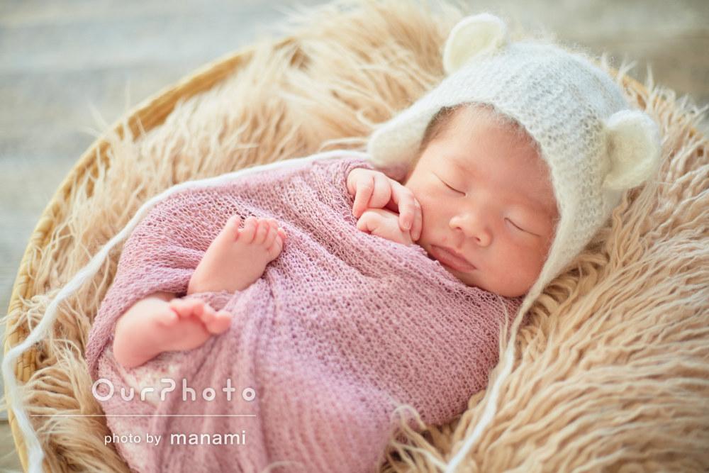 「可愛らしくセンスのあるステキな写真」ご自宅ニューボーンフォト