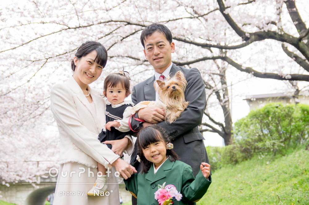 「素敵な写真ばかりでした。本当に感謝しています」入園記念の家族写真
