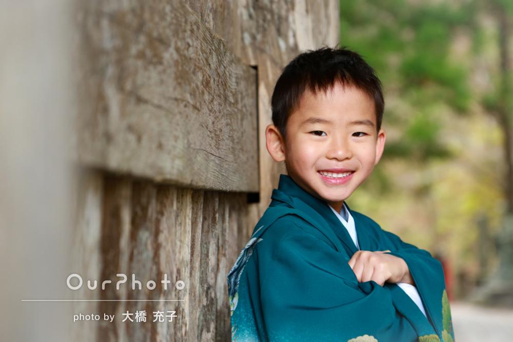 「ニコニコでかっこいい写真がたくさん」男の子の七五三撮影