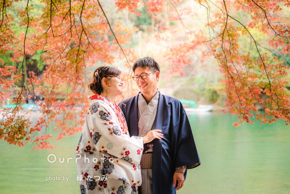 「2回目の撮影!次回は春の京都で」秋の京都カップルフォト