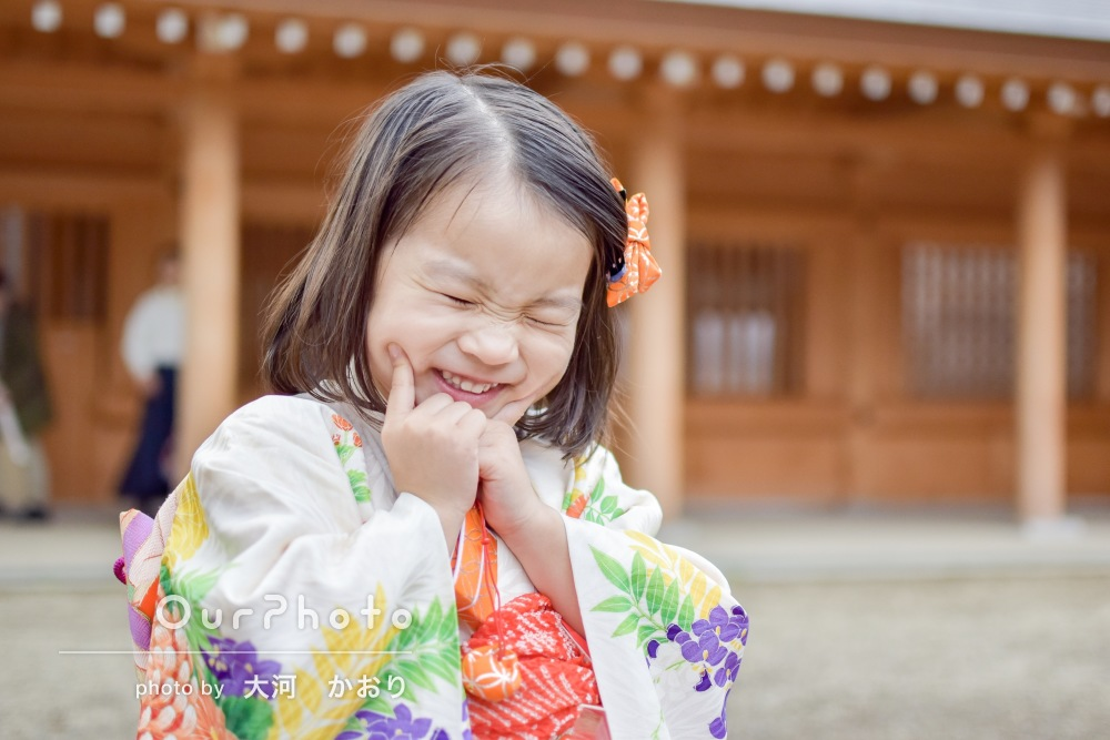 「自然な笑顔をたくさん」七五三参りにはじめての出張撮影