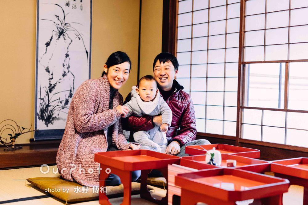 「あっという間の時間」年賀状用に家族のお出かけ写真を撮影